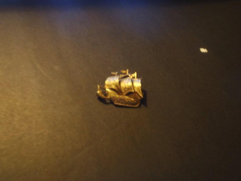 Goldtone Spanish Galleon Brooch