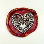 Heart Design Wax Seal Stamp, Wax sticks, wax spoon - Fast Shipping from Utah, USA - Great for Gifts, Wedding, birthday - Design P6