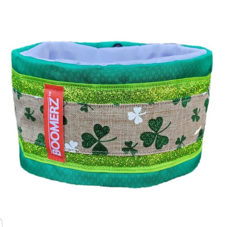 Snap Topz by Boomerz Couture: LUCKY CHARMZ -- Hair-saver Collar Satin-lined Poodle Collar