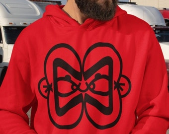 Sumoist Unisex Hoodie   Metamorphosis Symbols Collection by BKZCREATIVE   Red and Black Graphic Hoodie