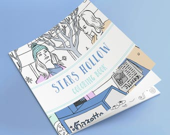 cc737ae68bf18 Gilmore Girls Stars Hollow Inspired Coloring Book