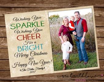 Christmas Photo Card, Christmas Card, Christmas Photo Card Printable