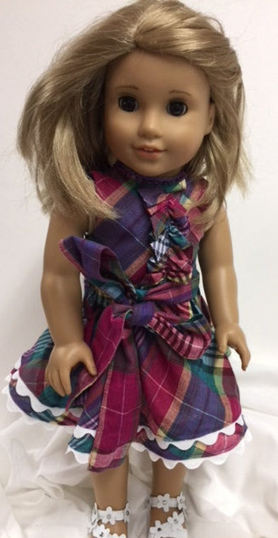 Bordeaux Dress /& Silver Top American Made Doll Clothes  for 18 inch Girl Dolls