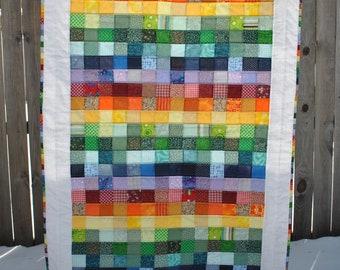 Rainbow Pixels Quilt