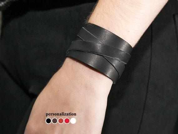 Monogram BraceletMonogram Cuff Bracelet Cuff Bracelet Wide Leather Cuff Bracelet