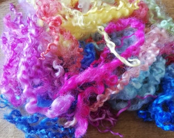 Wensleydale dyed locks 50grms