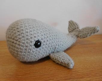 Amigurumi Stuffed Whale/Narwhal - Many Colors! Stuffed Animal - Toy - Handmade - Ocean