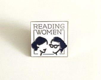 Reading Women Enamel Logo Pin