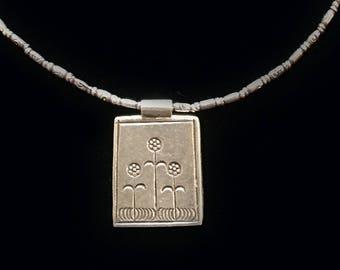 Sterling Silver Triple Flower Necklace