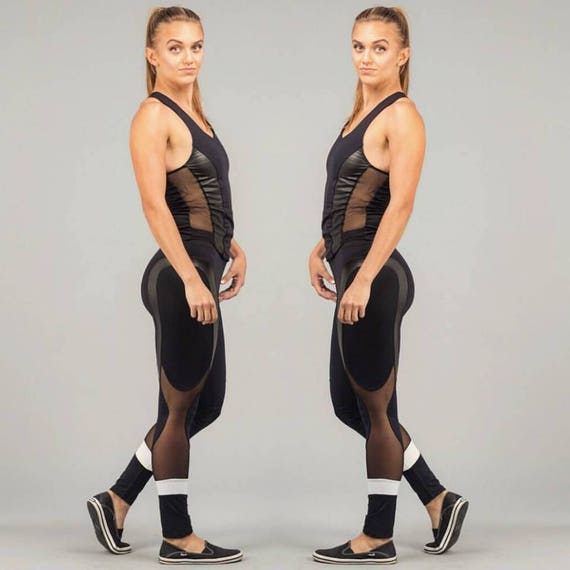 Leather Workout Pant Legging Gym Fitness Yoga Leggings Leggings Leggings With Mesh Leggings Leggings Sexy Mesh Apparel Yoga Sexy R7qwOfzFq