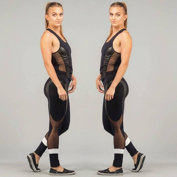 Fitness Leggings Sexy Legging Leather Mesh Mesh With Yoga Leggings Yoga Leggings Sexy Apparel Pant Leggings Leggings Gym Workout 7RnI0Z