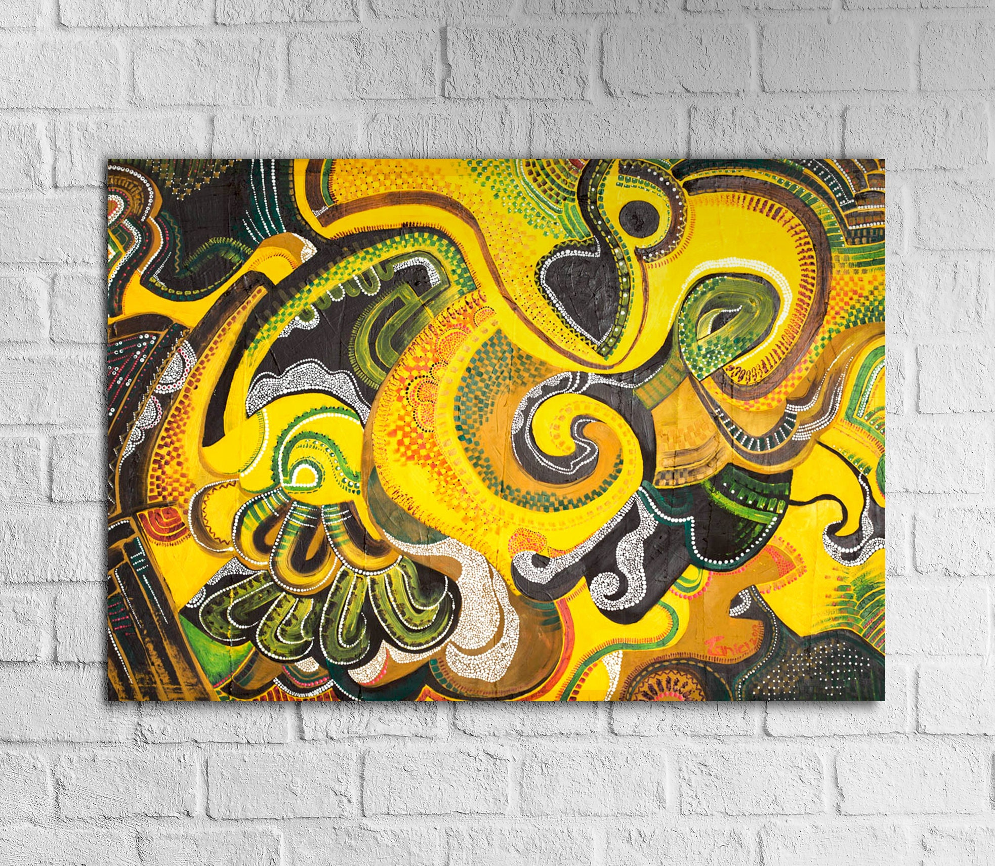 Original Abstract Painting 20x28 African Art   Etsy