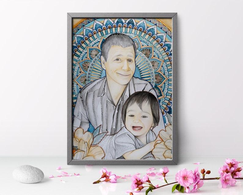Framed 50th birthday for men Custom Portrait