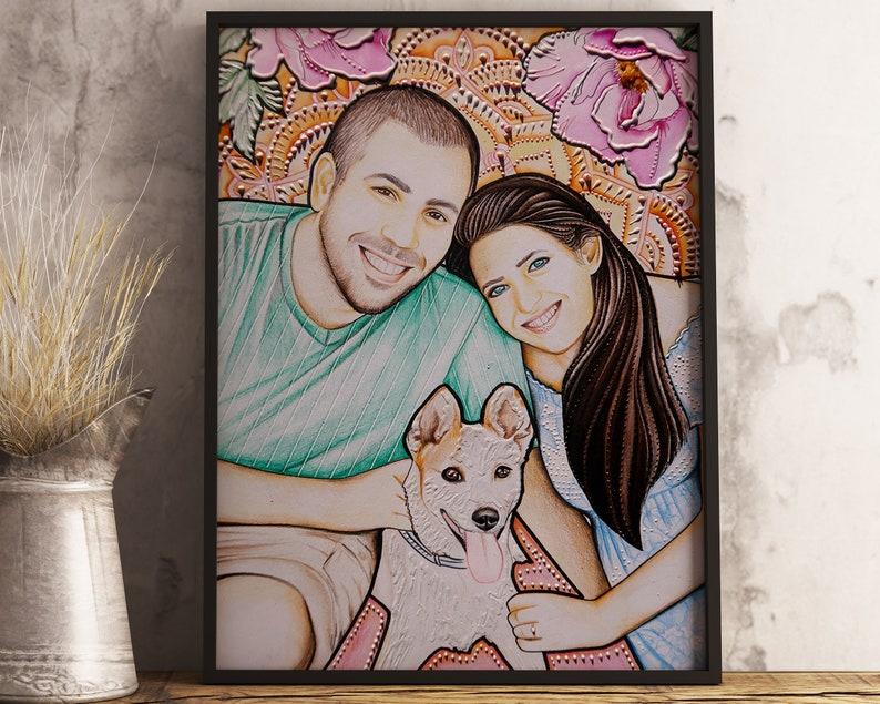 Boyfriend Gift Custom Portrait