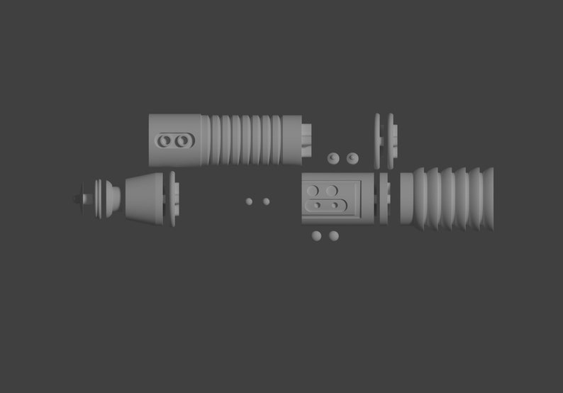 3D Printable File Kit Fisto lightsaber