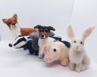 Custom Made Felted Animals