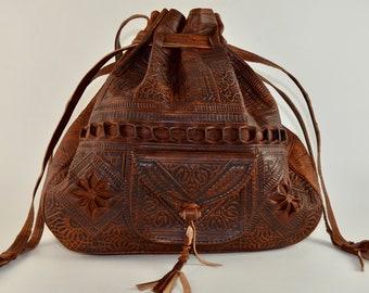 f147b98474 Moroccan Leather Bucket Bag