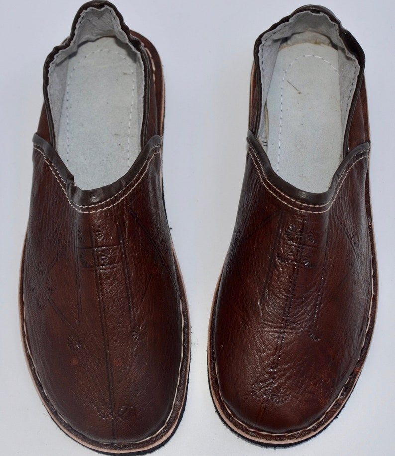 a4f20e66b4a6 Mens Moroccan Babouche Slippers Shoes Handmade Leather Shoes