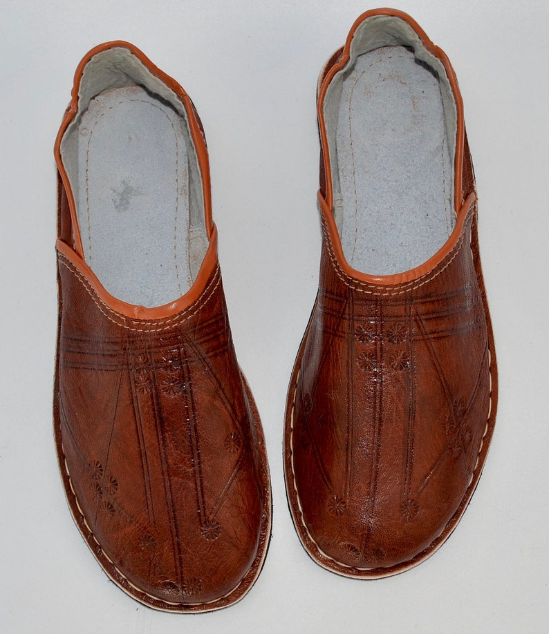 a9237e5aa9f9 Mens Moroccan Babouche Slippers Shoes Handmade Leather