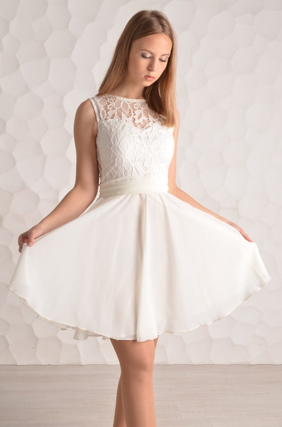 exclusive deals innovative design affordable price Short White Prom Dress White lace Homecoming Dress White Cheap Prom Dress  White Short Homecoming Dress Short Chiffon Dress A-line Dresses