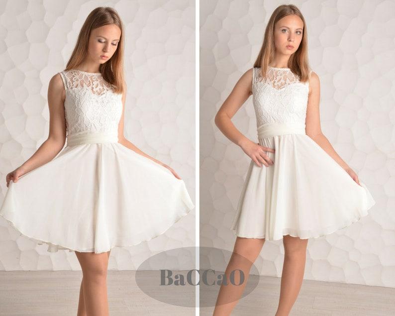 629225fa17 Short White Prom Dress White lace Homecoming Dress White Cheap