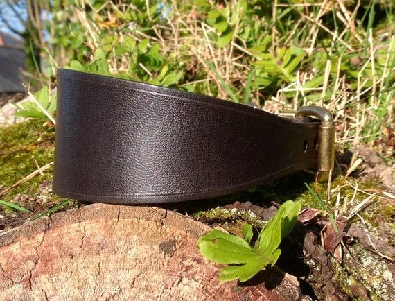 Collier de chien en cuir sellerie anglais qualité pour Lurcher/Whippet/Bedlington/Italian Greyhound/chiot/lévrier