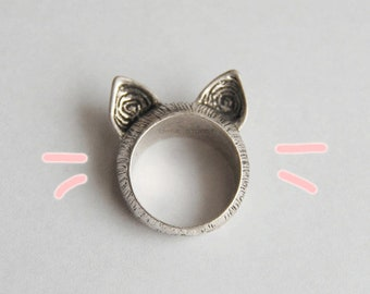 Ear cat ring Kawaii ring