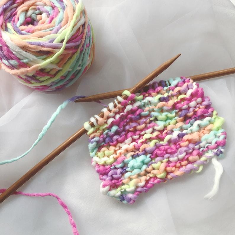 50 Gram Handspun Handmixed Art Yarn for Knitting Weaving and Crochet Handcraft DIY