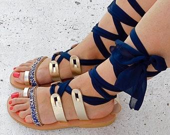 gladiator sandals, flat sandals, strappy sandals, wedding sandals, summer sandals, leather sandals, lace up sandals, Comfortable sandals