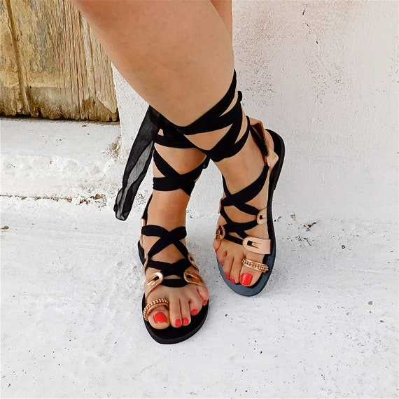 up Strappy Tie sandals Greek sandals Ladies sandals sandals Lace Gladiator sandals Wedding sandals sandals sandals up Boho dvqOFR