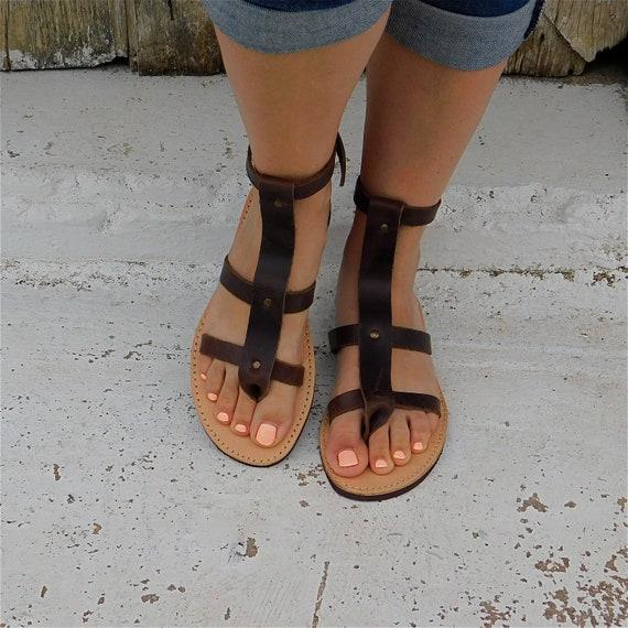 sandals sandals Summer Greek sandals sandals sandals sandals beach hippie boho Gladiator ethnic sandals sandals Brown women sandals EBqqx8