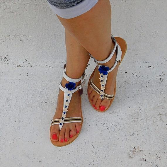 sandales Sandales d cuir BOHO en sandales confortables 5FxqF0ap