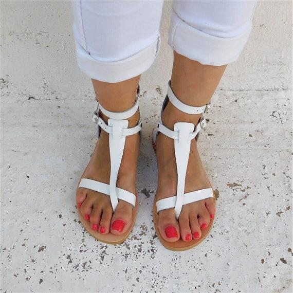 sandals sandals Greek sandals White flat sandals strap sandals Sandals sandals sandals Gladiator BOHO Wedding Comfortable T 0UZPnxvZ
