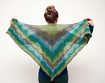 2018 Mother's Day Knitted Shawl Wool Green Wraps Bactus, Knitted Women unique gift