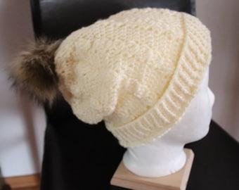 Crochet cap with stroll