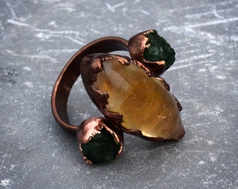gold apatite ring 6.5