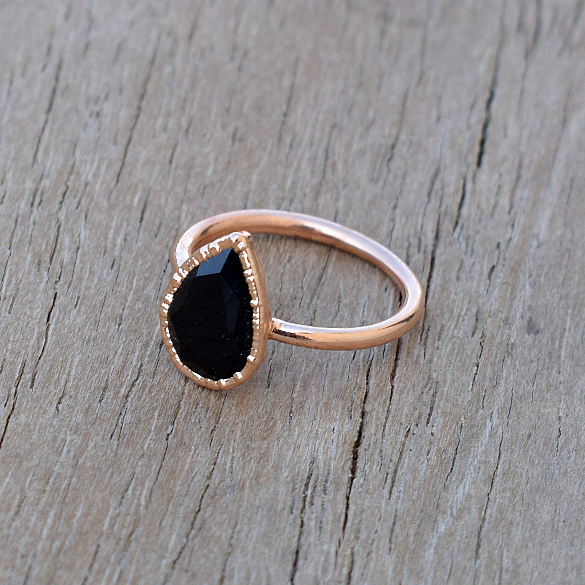 Gift Item Ring For Her Electroplated Ring Gemstone Ring Cut Stone Ring Ruby Hydro Colour Ring Rose Gold Ring Ring For Women