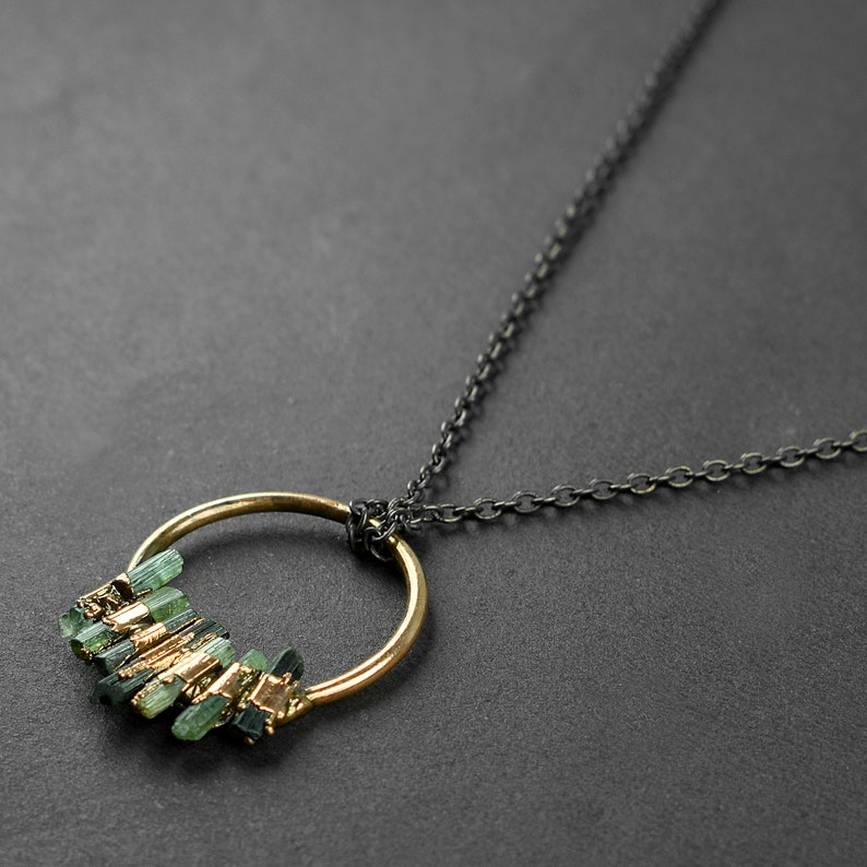 Rough Stone Necklace Gift For Her Necklace For Women Pencil Stone Necklace Necklace For Her Tourmaline Necklace GFS3334