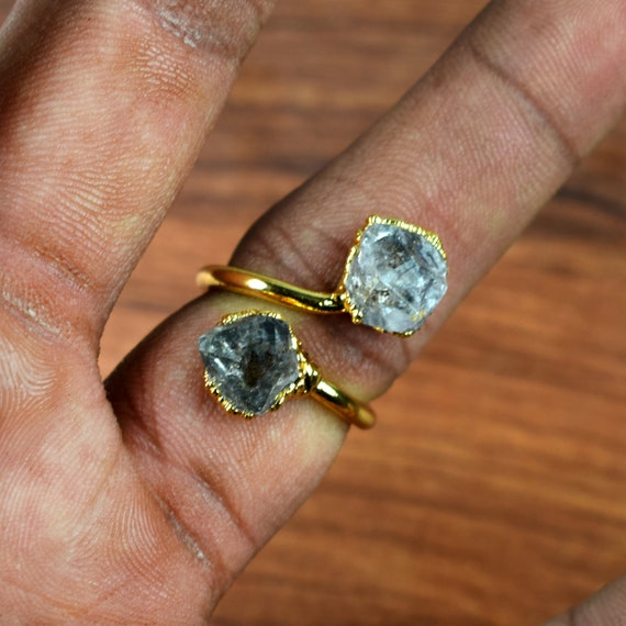 Gift For Women Ring Size 7 Rings Herkimer Diamond Ring Gift For Her Electroplated Ring GFS2771 Ring For Women Copper Ring
