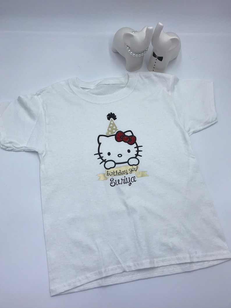 Personalized Hello Kitty Inspired Shirt Birthday