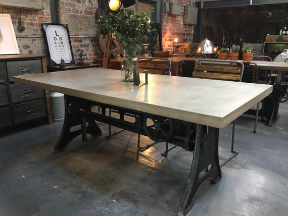 Crank Table Dining Table Outdoor Table Kitchen Table Etsy