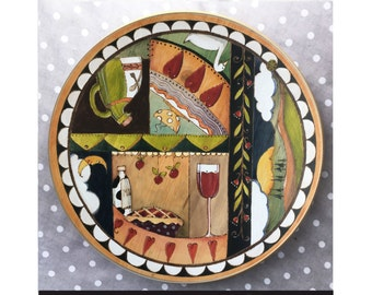 """Lazy Susan Made with Love  3 hearts 18"""" x 3.5"""" NEW!"""