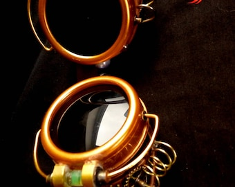 STEAMPUNK customised Goggles cosplay display Vintage Victorian - Made to order