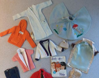 Barbie and Ken clothes from early 1960's-authentic with trademarked labels