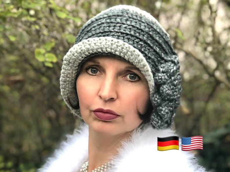Crochet Cloche Hat Pattern Babylon Berlin De Luxe 1910 1920s Etsy