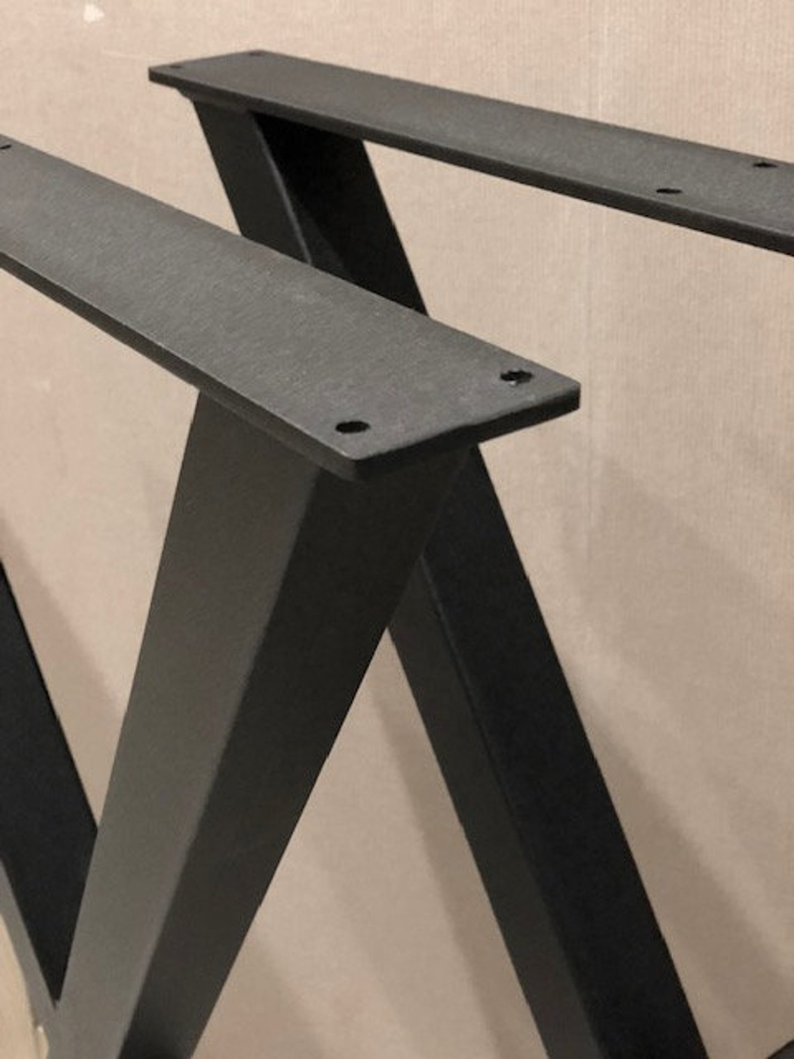 SET of 2 ELEGANT X-type dining table legs, Industrial style table legs, Steel metal table legs, Dining table legs, Kitchen table legs, Loft