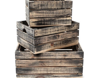 Handmade nested crates