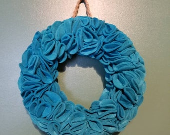 12 inch wreath made with felt circles