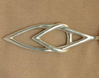 Hand Made, Limited Edition, Fully Hallmarked Solid Silver 'Crossover'  Pendant.