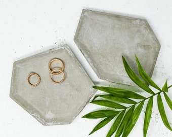 Trinket Dish Mini Round Concrete Tray Home Decor BirthdayWeddingAnniversaryBridesmaid Gift Ring Dish Jewellery Dish
